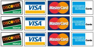 Credit Card Logos #1 Vinyl Decal Sticker Set   3 decals Gloss