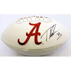 Trent Richardson Signed Alabama Crimson Tide Logo Ball