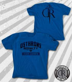 Team Shane Carwin Royal Blue T shirt MMA