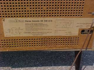 Grundig Majestic Stereo Console Model SO S0 240 U/S