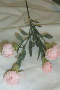 Mini Pale Pink Long Stem Silk Carnations Flowers 9831