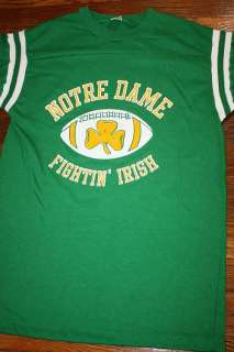 vtg 70s NOTRE DAME footbal jersey shirt * FIGHTING IRISH