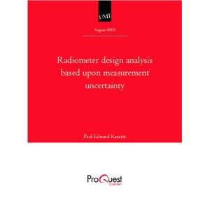 Radiometer design analysis based upon measurement uncertainty Books