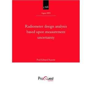 Radiometer design analysis based upon measurement uncertainty Books