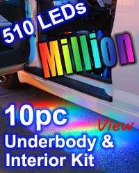 4pc MILLION COLOR LED UNDERBODY UNDERGLOW LIGHTS KIT