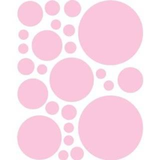 Set of 130 Brown and Pink Polka Dots Circles Wall Decor Graphic Vinyl