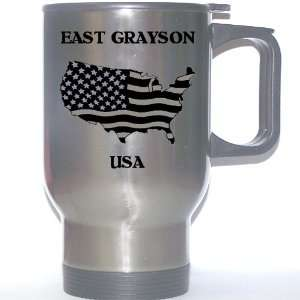 US Flag   East Grayson, Texas (TX) Stainless Steel Mug