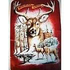 super plush queen size fleece blanket 79x95 white tailed deer