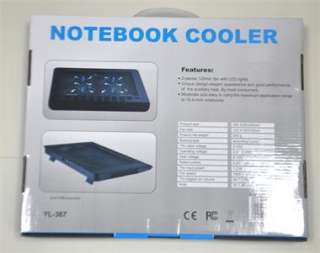 Brand New 2 Fan Blue LED Notebook USB Cooling Cooler Pad For 10 15