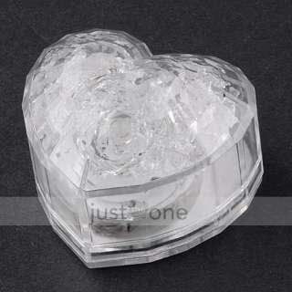 2x LED Flashing Ice Cube + Heart shape Decoration Light for Bar
