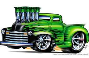 1947   1953 CHEVY PICKUP TRUCK LICENSED T SHIRT #5100