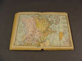 1963 OLD WORLD MAP ATLAS COUNTRIES PRINT BOOK BOOKLET