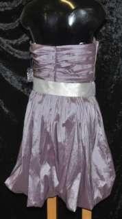 Oleg Cassini Womens Strapless Dress   Lilac Purple Size 10