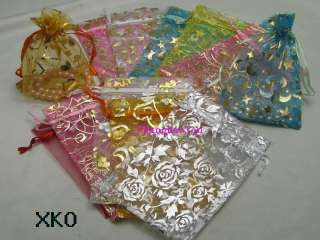 Mixed Wholesale Bulk Wedding favor bags jewelry organza gift pouch