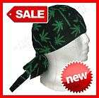 Marijuana Pot Leaf Weed Black Skull Beanie Cap Hat NEW
