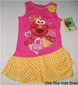 24 Mo 2T 3T 4T 5T Set DRESS Outfit Shirt Skirt SESAME STREET