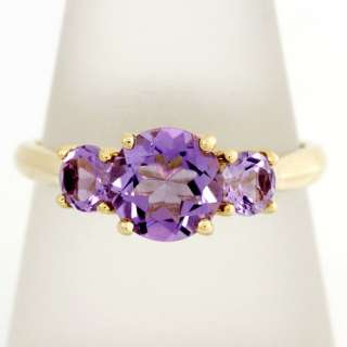 84CT GENUINE NATURAL AMETHYST 9CT 9K SOLID GOLD RINGS
