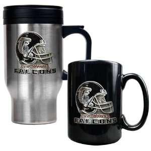 Atlanta Falcons NFL Travel Mug & Ceramic Mug Set   Helmet logo