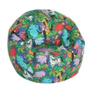 Prints Collection Jr. Bean Bag  Jungle Animals Kids & Teen Rooms