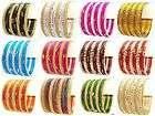 Matching Indian Ethnic Multi Color Metal Bangles Bracelet Set