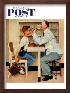At the Optometrist or Eye Doctor Saturday Evening Post Cover, May