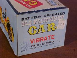 RARE Battery Op Operated Toy Car in Box MINT W Manual