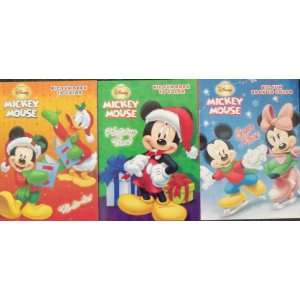 Disney Mickey Mouse Big Fun Book to Color Set of 3 (Fa la la, Holiday