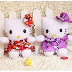 ems   super cute 20cm dress kt cat plush toys christmas