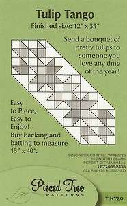 TULIP TANGO TINY ONES TABLE RUNNER QUILT PATTERN