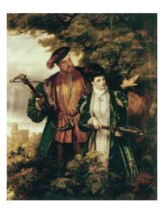 Henry VIII and Anne Boleyn Deer Shooting in Windsor Forest Giclee