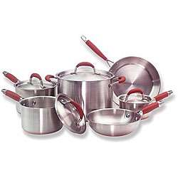 Stainless Steel Copper Bottom 10 piece Cookware Set