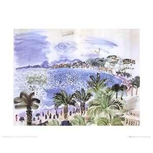 LA PROMENADE DES ANGLAIS   Poster by Raoul Dufy (20x16
