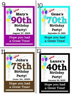PERSONALIZED 50th BIRTHDAY PARTY FAVORS MAGNETS any age