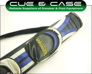 UNIVERSAL GOLF BAG Pro Tube Pool Cue Case   Blue/Silver