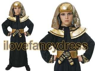 KIDS EGYPTIAN PHARAOH BOYS FANCY DRESS COSTUME PHAROH