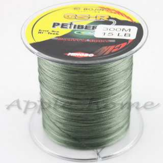 Strong 100% Dyneema Spectra Braid Fishing Line 300M 327 Yard
