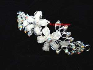 Bridal Crystal Flower Headband Wedding Crown Tiara party