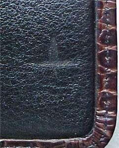 BRIGHTON HILLCREST BLACK BROWN LEATHER PURSE POUCH ~ NWT