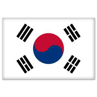 South Korea Korean Flag car bumper sticker 5 x 4