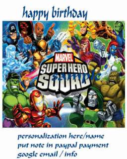 MARVEL SUPER HERO SQUAD EDIBLE CAKE TOPPER DECORATION