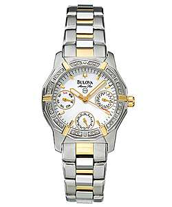 Bulova Marine Star Womens Quartz Watch  Overstock
