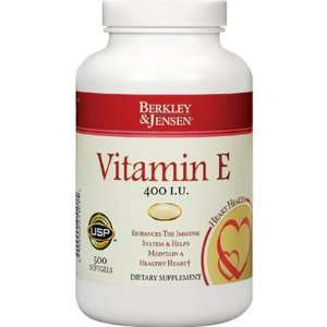 Berkley & Jensen 400 IU Vitamin E DLA Liquid Softgels