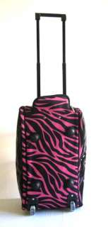 20 Duffel/Tote Bag Rolling Luggage Case Wheel Purse CarryOn Pink