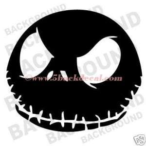 JACK SKELLINGTON car window sticker decal CARTOON FACE