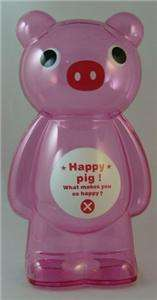 LARGE CLEAR PLASTIC PINK PIG CHILDRENS KIDS COIN PIGGY BANKS