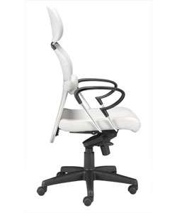 Miami White Leatherette Office Chair