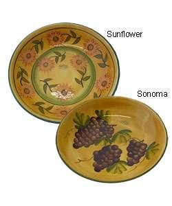 Tuscan Hand painted Large Pasta/Salad/Fruit Bowl