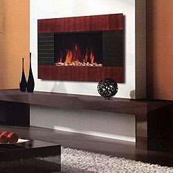 Northwest Wood Trim Paneled Electric Fireplace Heater