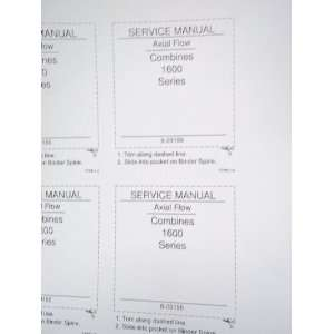 Case 1600 Series Axial Flow Combine OEM Service Manual
