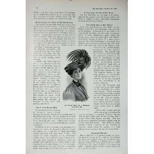 1907 Ladies Hat Shoolbred Nicol Coats Egypt Steam Ship